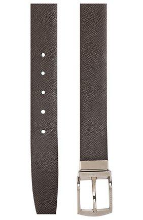 Мужской кожаный ремень BURBERRY темно-коричневого цвета, арт. 8015586 | Фото 2