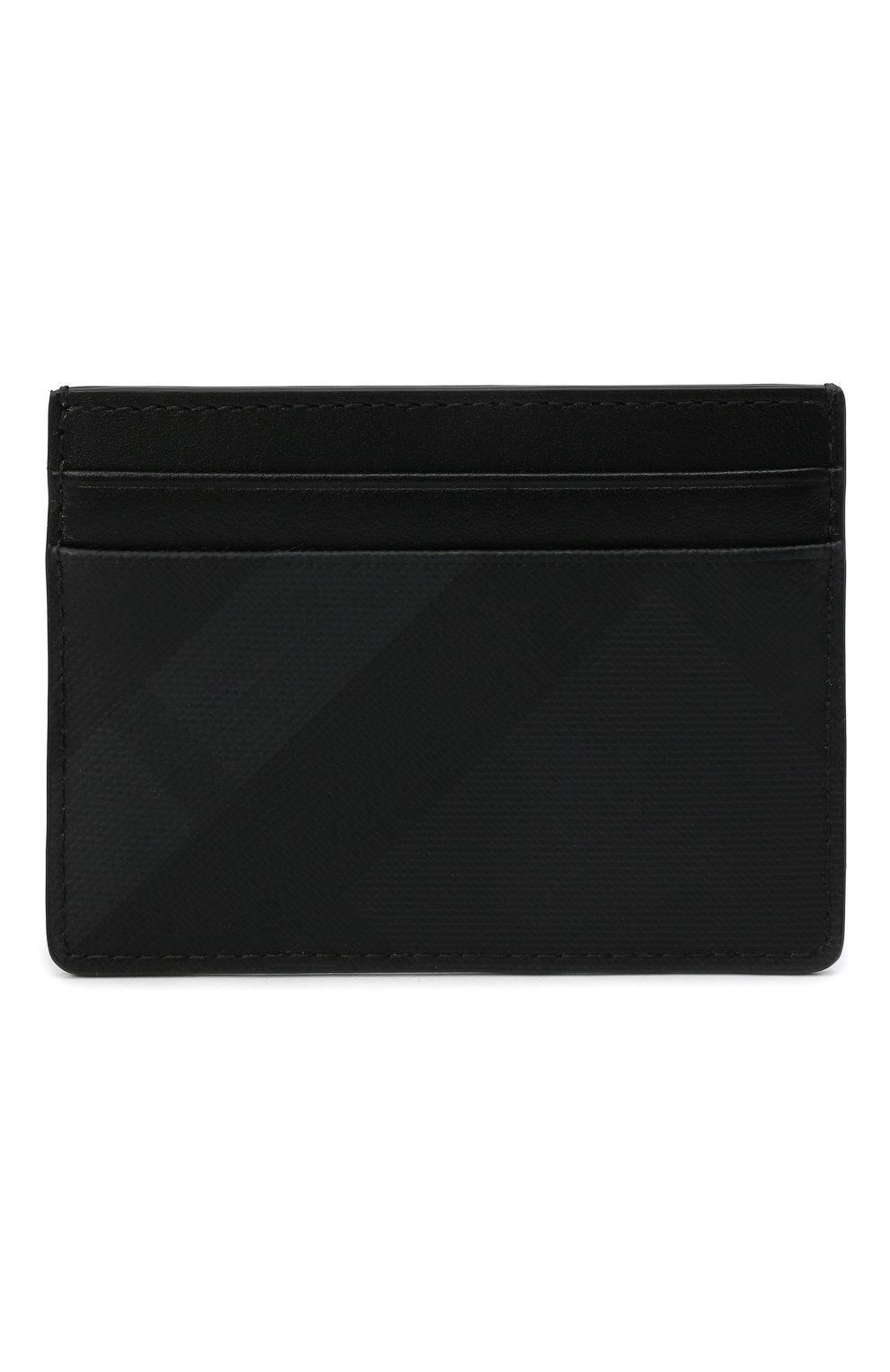 Мужской футляр для кредитных карт BURBERRY темно-серого цвета, арт. 8014485   Фото 1