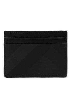 Мужской футляр для кредитных карт BURBERRY темно-серого цвета, арт. 8014485 | Фото 1