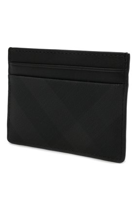 Мужской футляр для кредитных карт BURBERRY темно-серого цвета, арт. 8014485 | Фото 2