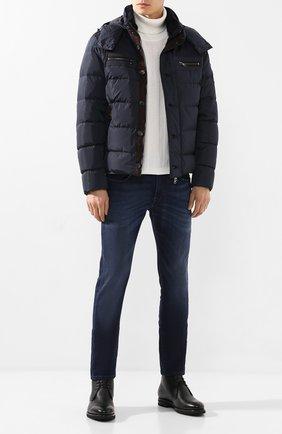 Мужская пуховая куртка PAUL&SHARK темно-синего цвета, арт. I19P2172   Фото 2