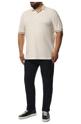 Мужские джинсы PAUL&SHARK синего цвета, арт. C0P4004R | Фото 2
