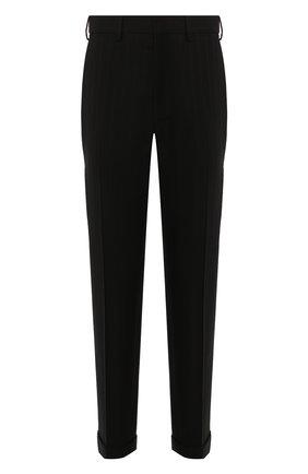 Мужской брюки из смеси хлопка и шерсти DRIES VAN NOTEN черного цвета, арт. 192-20932-8323 | Фото 1