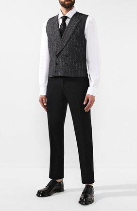 Мужской кожаные дерби DOLCE & GABBANA черного цвета, арт. A10469/A1203 | Фото 2
