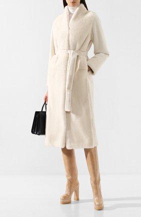 Женские кожаные сапоги CASADEI бежевого цвета, арт. 1S042N1201FUNKY3201 | Фото 2