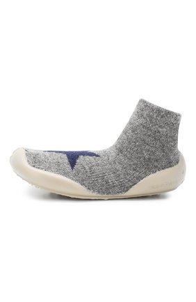Детского домашняя обувь COLLEGIEN серого цвета, арт. 956D/18-35 | Фото 2