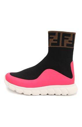Детские текстильные кроссовки FENDI разноцветного цвета, арт. JMR289/A8CL/27 | Фото 2
