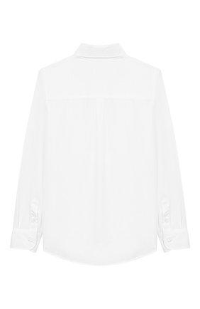Детская хлопковая рубашка FENDI белого цвета, арт. JMC086/A31W/10A-12+ | Фото 2