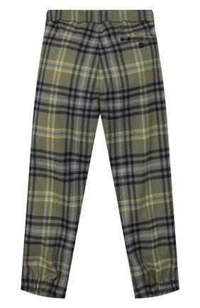 Детские брюки с поясом на кулиске IL GUFO хаки цвета, арт. A19PL261W3R39/5A-8A | Фото 2