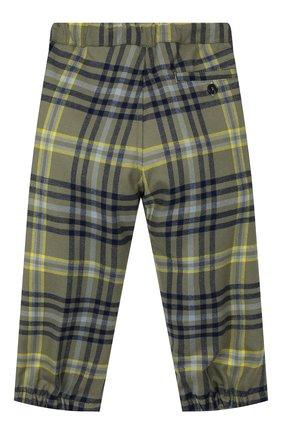 Детские брюки с поясом на кулиске IL GUFO хаки цвета, арт. A19PL261W3R39/2A-4A | Фото 2
