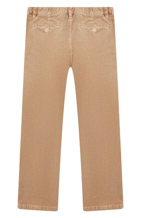Детские вельветовые брюки IL GUFO бежевого цвета, арт. A19PL133V6005/5A-8A | Фото 2