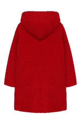 Детское пальто из эко-меха с капюшоном IL GUFO красного цвета, арт. A19GP250PE012/5A-8A | Фото 2