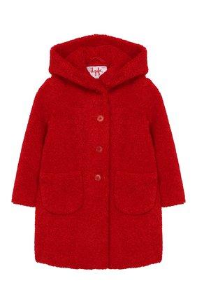 Детское пальто из эко-меха с капюшоном IL GUFO красного цвета, арт. A19GP250PE012/2A-4A | Фото 1