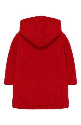 Детское пальто из эко-меха с капюшоном IL GUFO красного цвета, арт. A19GP250PE012/2A-4A | Фото 2