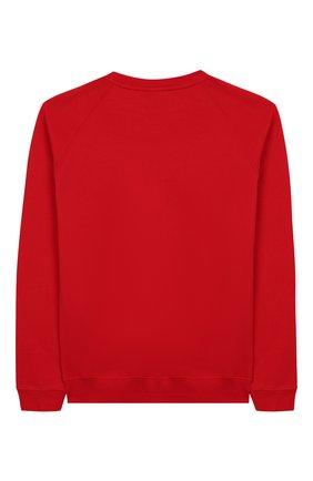 Детский хлопковый свитшот BALMAIN красного цвета, арт. 6L4630/LX200/4-10 | Фото 2