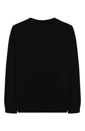 Детский хлопковый свитшот BALMAIN черного цвета, арт. 6L4630/LX200/4-10 | Фото 2