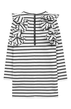 Детское хлопковое платье BALMAIN черно-белого цвета, арт. 6L1040/LA840/4-10 | Фото 2
