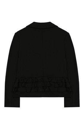 Детский жакет SIMONETTA черного цвета, арт. 1L2074/LA300/5-8 | Фото 2