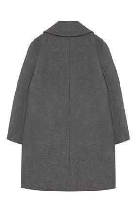 Детское двубортное пальто из шерсти SIMONETTA серого цвета, арт. 1L2060/LD520/5-8 | Фото 2