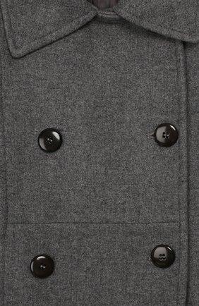 Двубортное пальто из шерсти | Фото №3