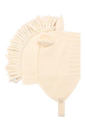 Детского шапка из шерсти и кашемира BURBERRY бежевого цвета, арт. 8016659 | Фото 1