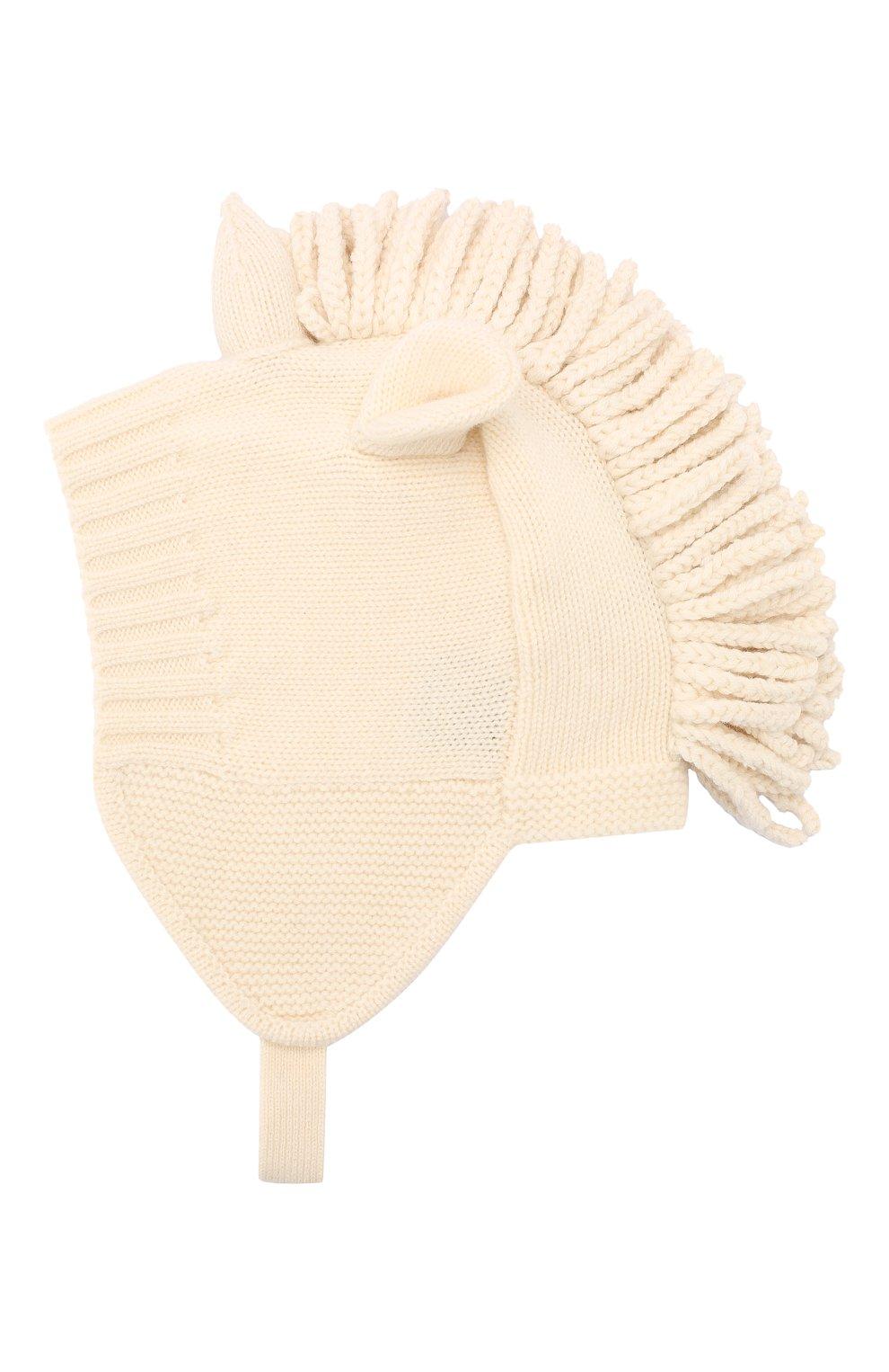 Детского шапка из шерсти и кашемира BURBERRY бежевого цвета, арт. 8016659 | Фото 2