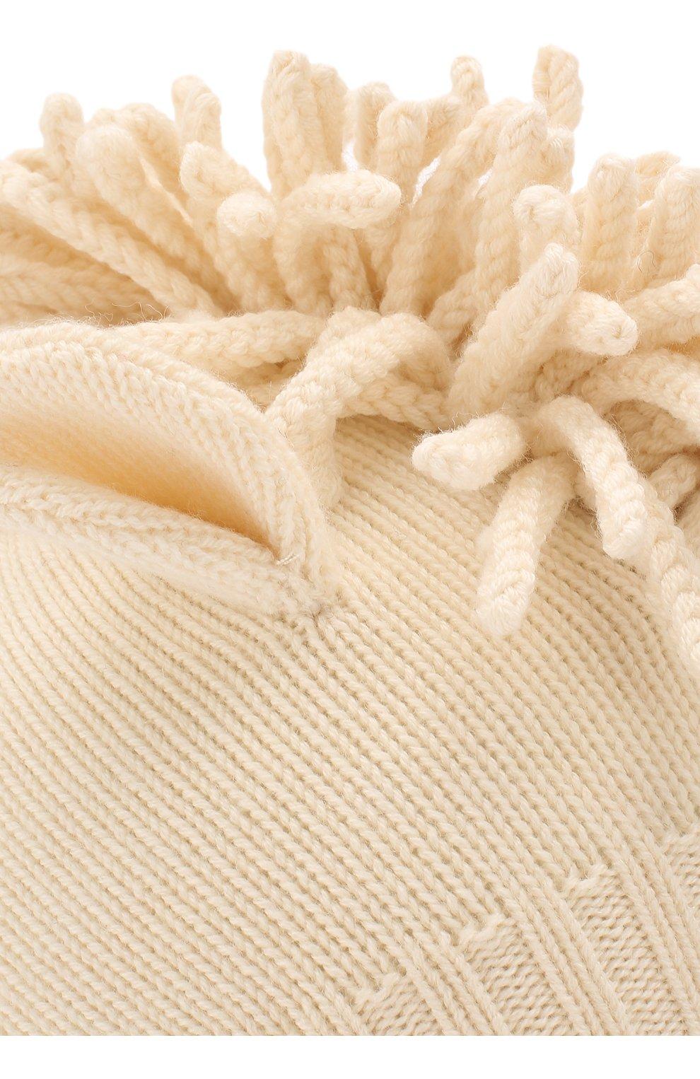 Детского шапка из шерсти и кашемира BURBERRY бежевого цвета, арт. 8016659 | Фото 3