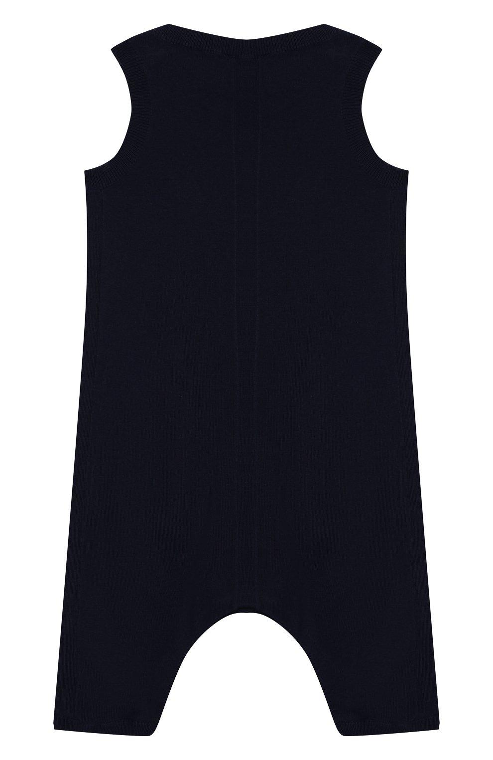 Детский хлопковый комбинезон BURBERRY синего цвета, арт. 8013711   Фото 2