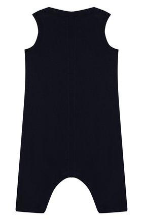 Детский хлопковый комбинезон BURBERRY синего цвета, арт. 8013711 | Фото 2