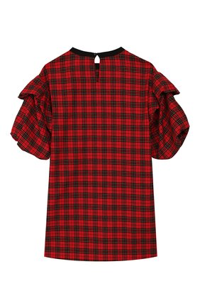 Детское хлопковое платье PHILOSOPHY DI LORENZO SERAFINI KIDS красного цвета, арт. PJAB44/CQ281/UHUNI/L-XL   Фото 2