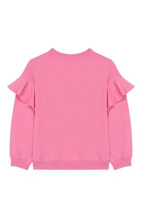 Детский хлопковый свитшот PHILOSOPHY DI LORENZO SERAFINI KIDS розового цвета, арт. PJFE16/FE147/UH002/XXS-XS   Фото 2