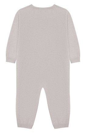 Детский комбинезон из шерсти и кашемира BABY T серого цвета, арт. 19AI141TB/1M-12M | Фото 2