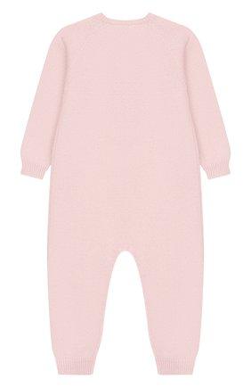 Детский комбинезон из шерсти и кашемира BABY T светло-розового цвета, арт. 19AI141TB/1M-12M | Фото 2