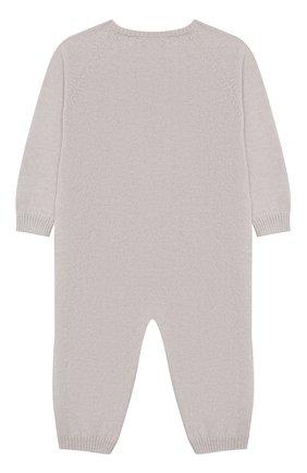 Детский комбинезон из шерсти и кашемира BABY T серого цвета, арт. 19AI141T/1M-12M | Фото 2
