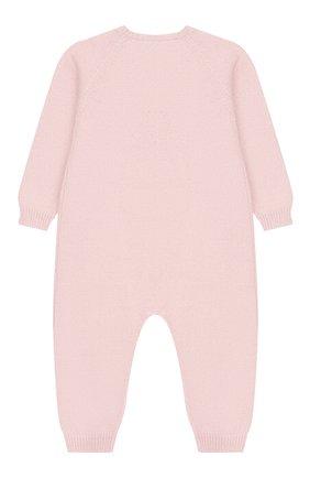Детский комбинезон из шерсти и кашемира BABY T светло-розового цвета, арт. 19AI141T/1M-12M | Фото 2