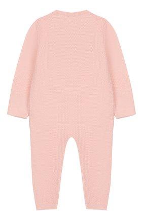 Детский шерстяной комбинезон BABY T розового цвета, арт. 18AI011TZ/18M-2A | Фото 2