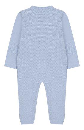 Детский шерстяной комбинезон BABY T голубого цвета, арт. 18AI011TZ/18M-2A | Фото 2