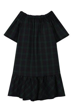 Детское платье из вискозы CAF синего цвета, арт. 307-XX-AI1920/9A-11A   Фото 2