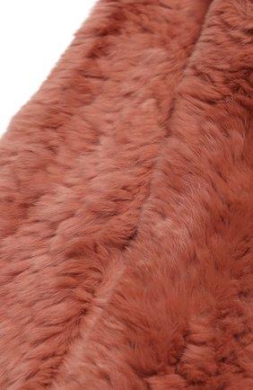 Детский меховой шарф YVES SALOMON ENFANT розового цвета, арт. 7WEA320XXKREX | Фото 2