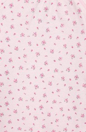 Детский хлопковый комбинезон SANETTA розового цвета, арт. 221469   Фото 3