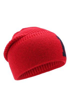 Детского шапка POLO RALPH LAUREN красного цвета, арт. 323751642 | Фото 1
