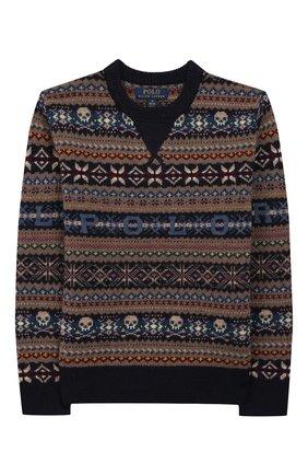 Детский шерстяной пуловер POLO RALPH LAUREN разноцветного цвета, арт. 323749925 | Фото 1