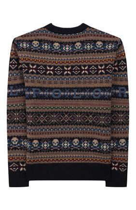 Детский шерстяной пуловер POLO RALPH LAUREN разноцветного цвета, арт. 323749925 | Фото 2