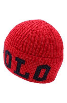 Детского шапка POLO RALPH LAUREN красного цвета, арт. 322751642 | Фото 2