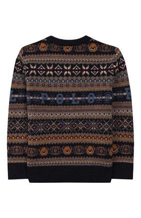 Детский шерстяной пуловер POLO RALPH LAUREN разноцветного цвета, арт. 322749925 | Фото 2