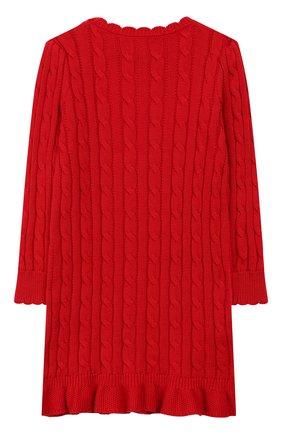 Детское хлопковое платье POLO RALPH LAUREN красного цвета, арт. 312758407 | Фото 2