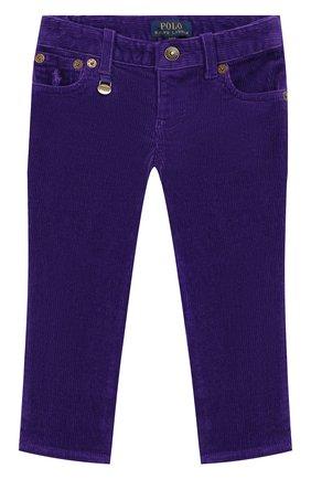 Детского вельветовые брюки POLO RALPH LAUREN фиолетового цвета, арт. 311750891 | Фото 1