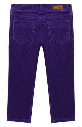 Детского вельветовые брюки POLO RALPH LAUREN фиолетового цвета, арт. 311750891 | Фото 2