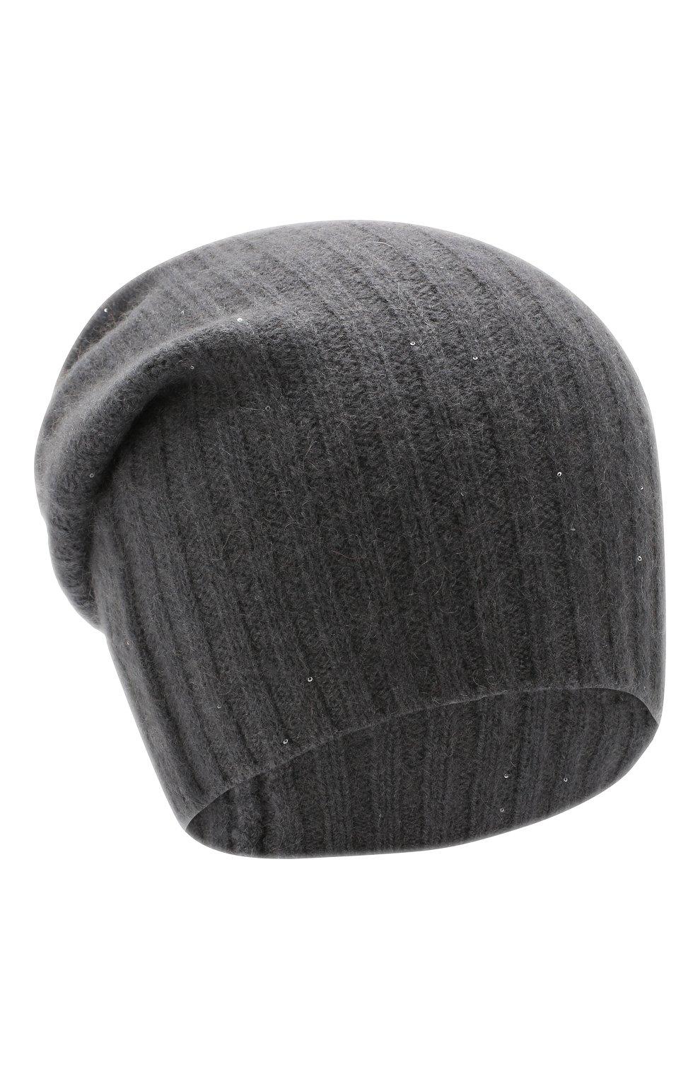 Женская шапка RE VERA темно-серого цвета, арт. 19201068 | Фото 1