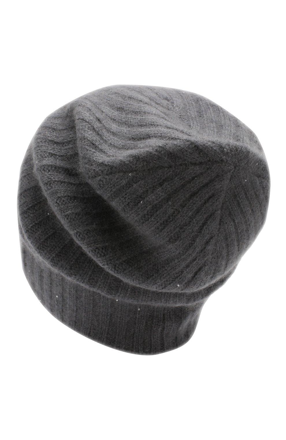 Женская шапка RE VERA темно-серого цвета, арт. 19201068 | Фото 2